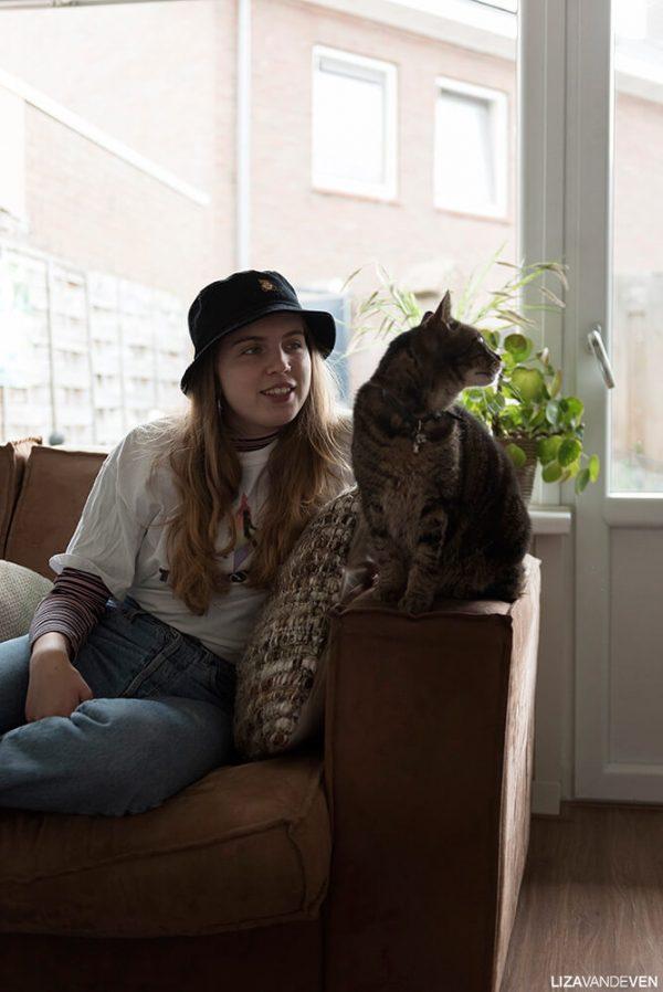 Portret Rosan met haar kat