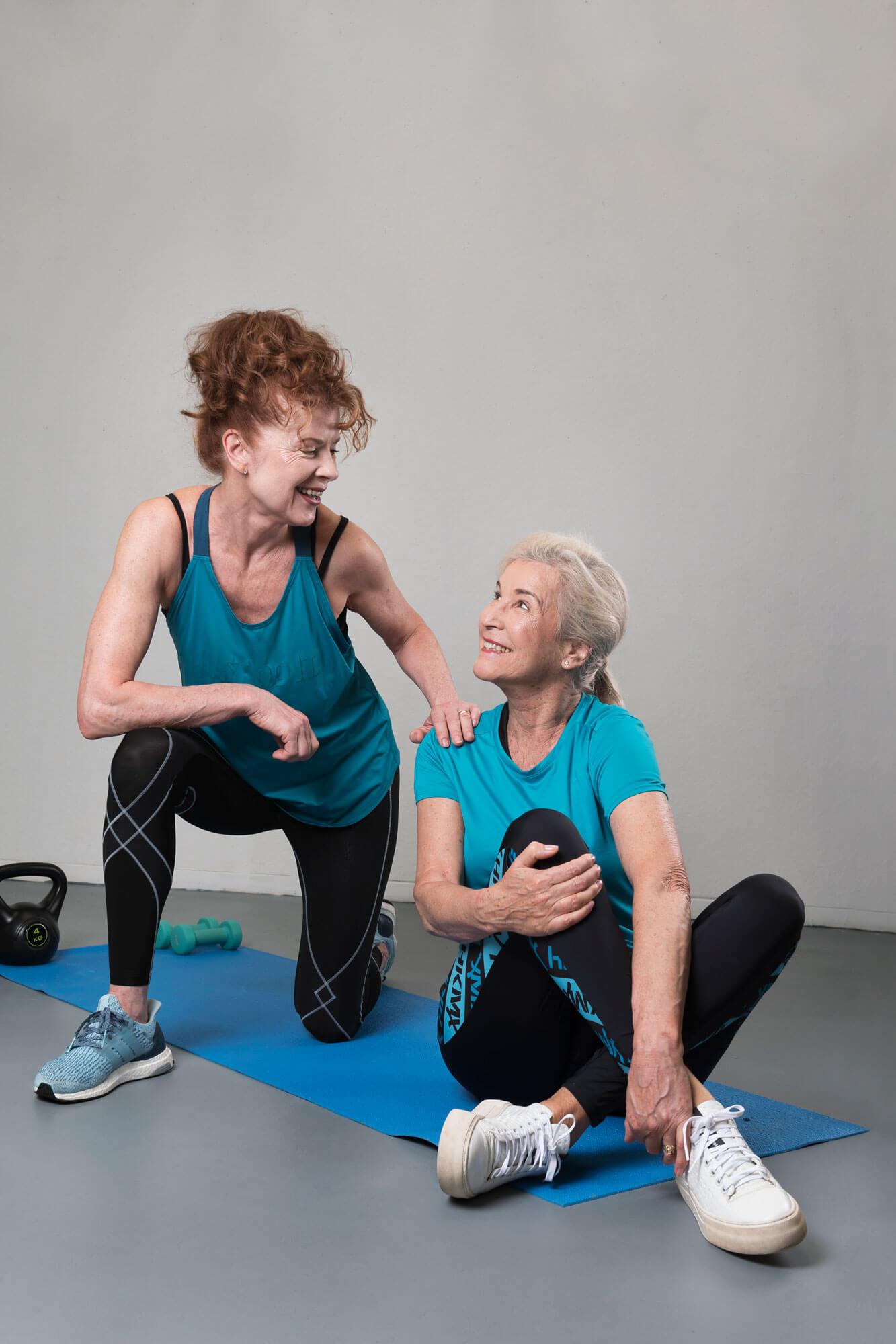 Blanka en Anne sportoutfit model sportend