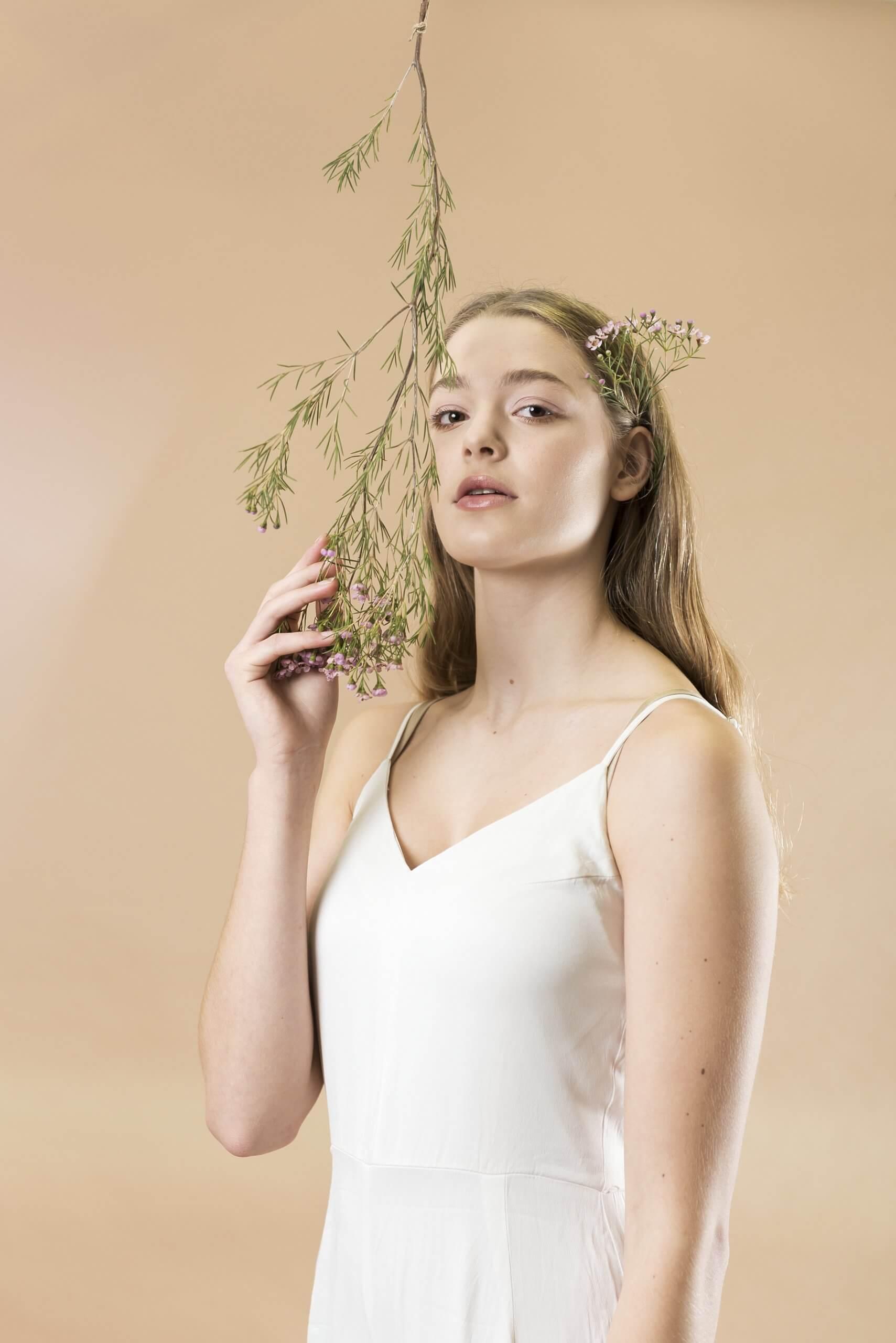 Breathing Demi witte jurk bloemen