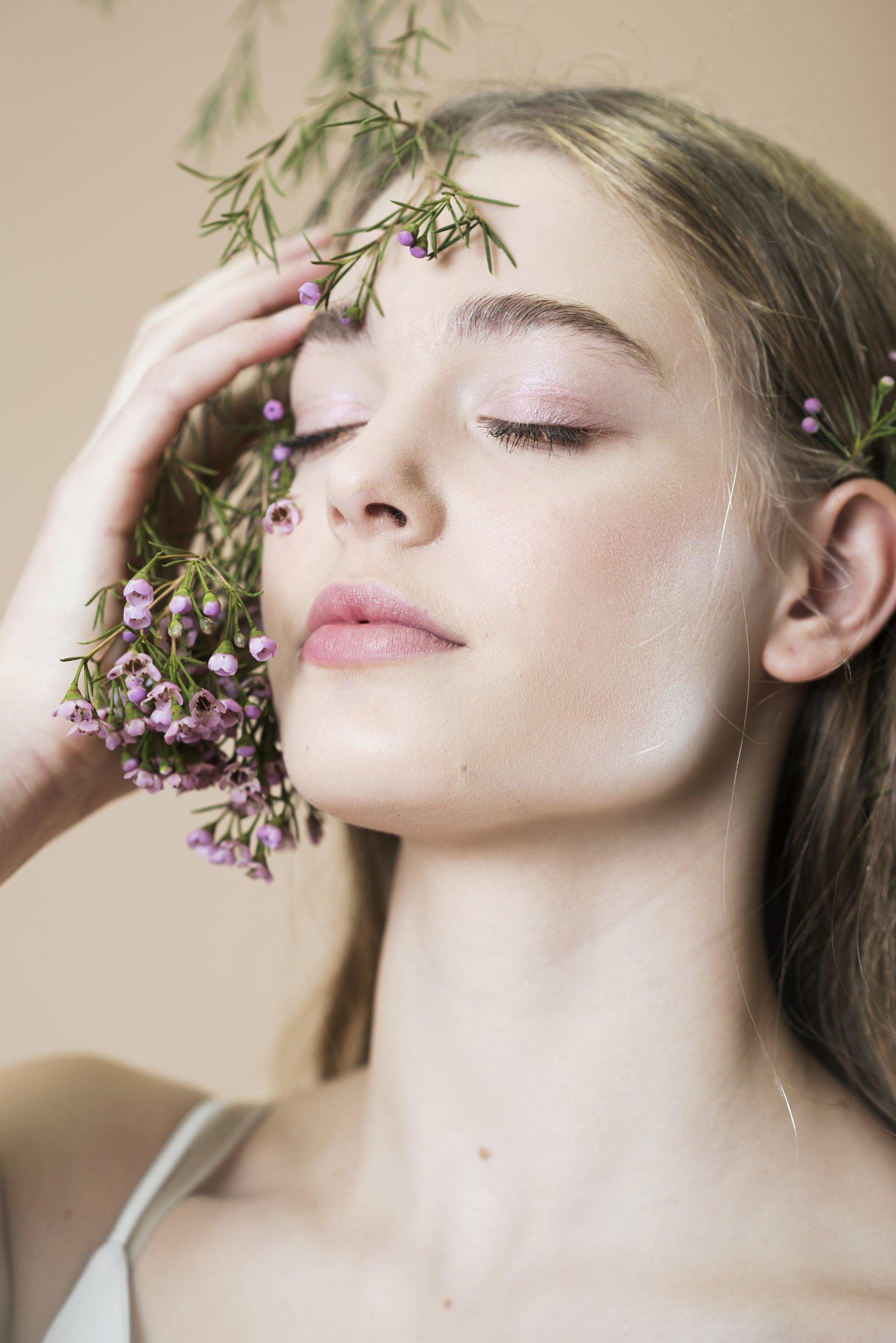 beauty portret Breathing bloemen