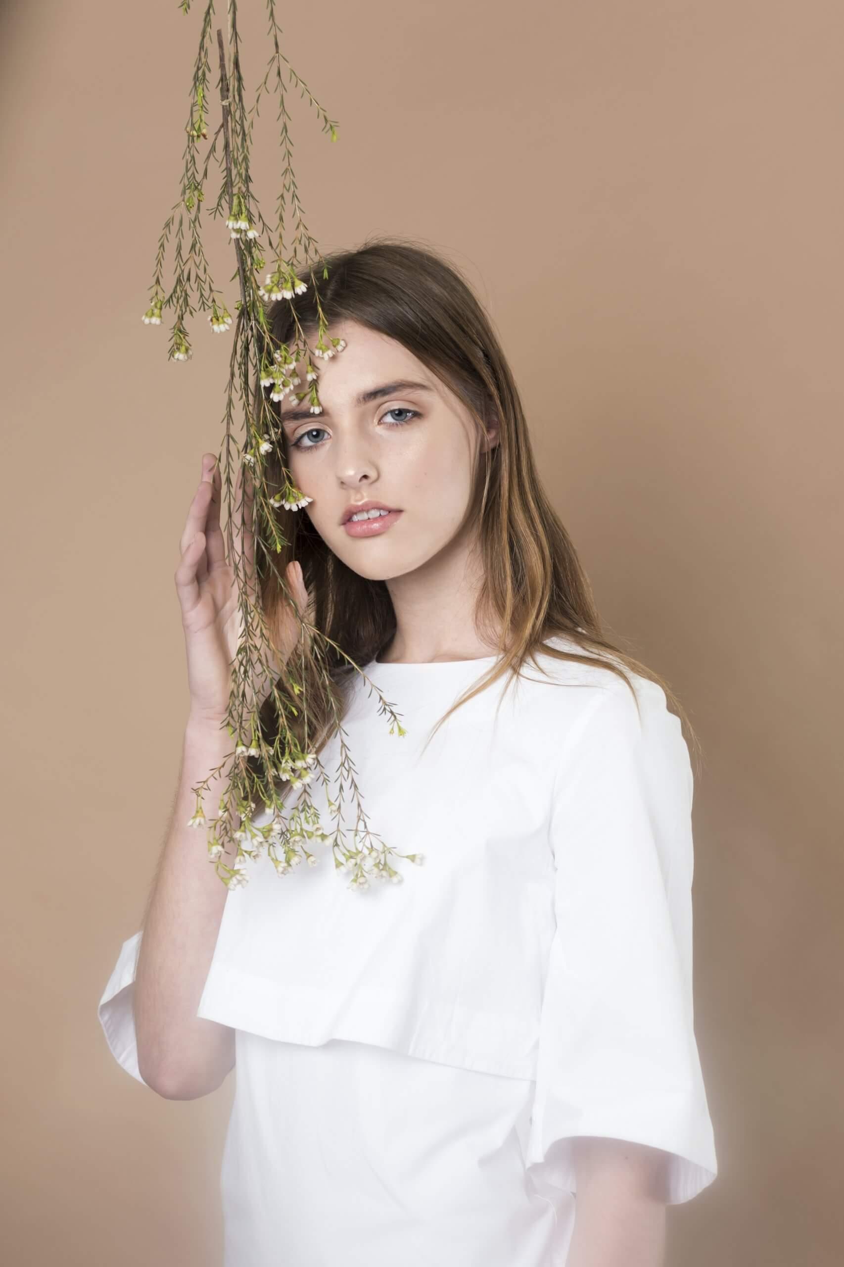 Breathe Portret Floor Witte jurk