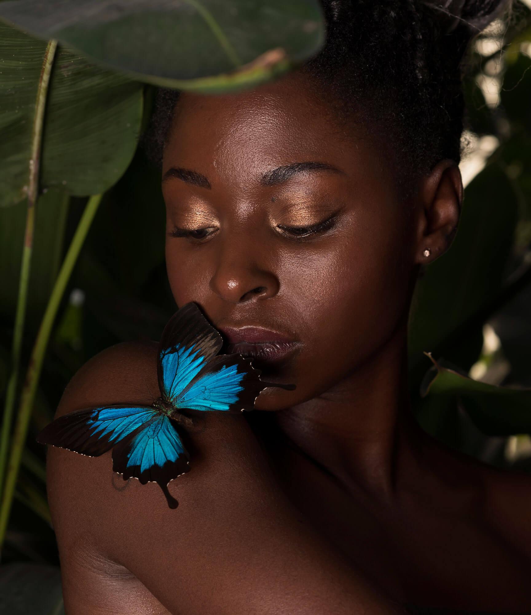 Germaine beauty vlinder model fotografie