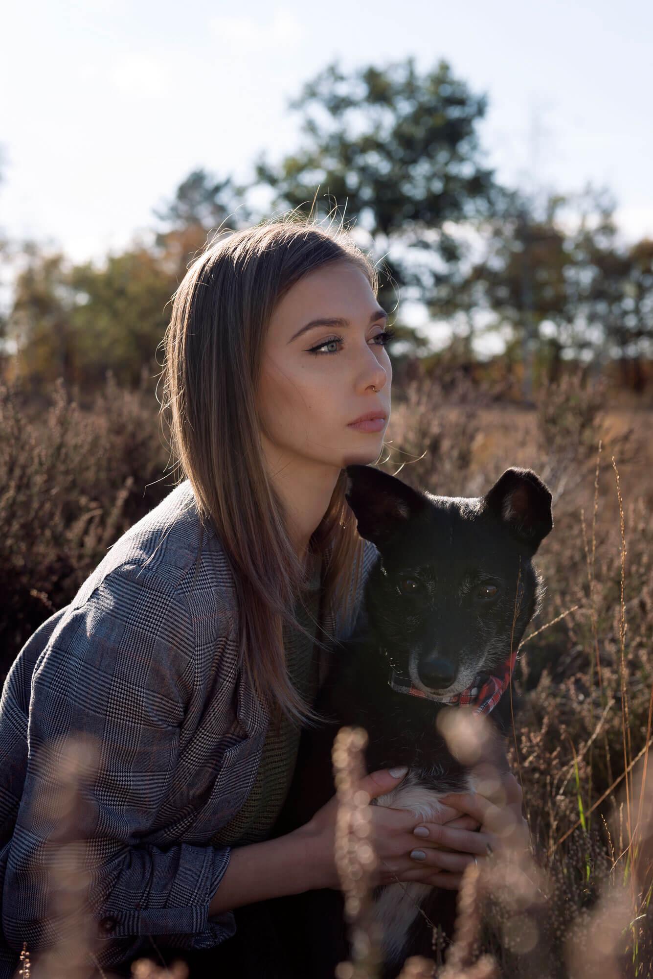 Portret met hond