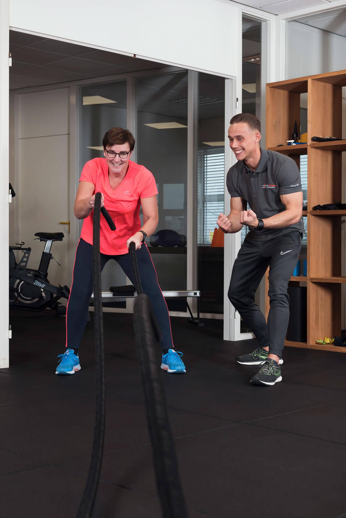 Personal trainer en client