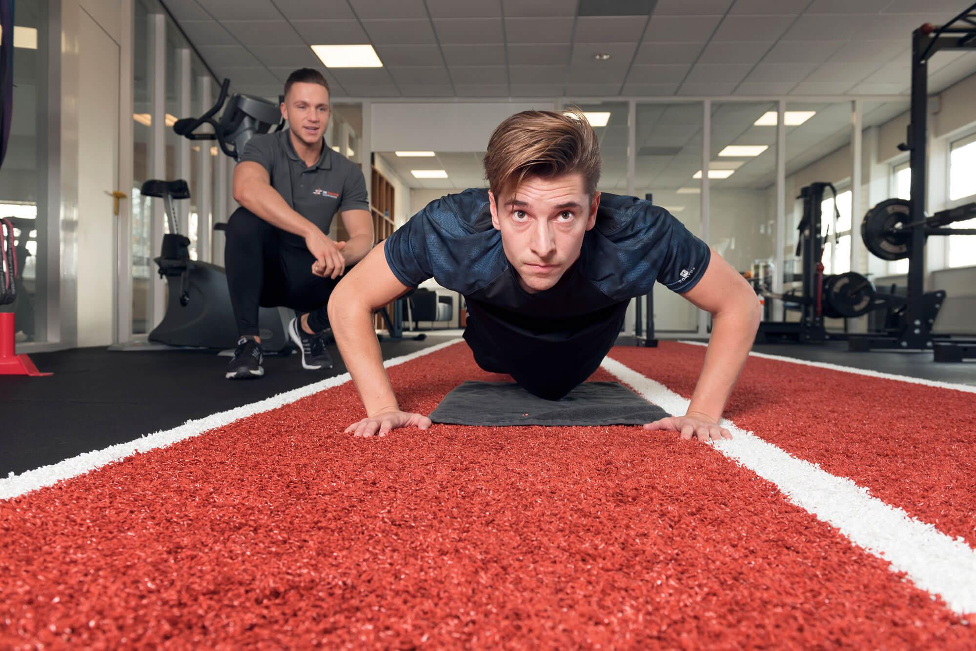 Planken fitness sport.